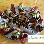 Involtini di bresaola zucchine e tosella