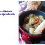Croccoriga a Schiscionera-zucchine stufate alla sarda