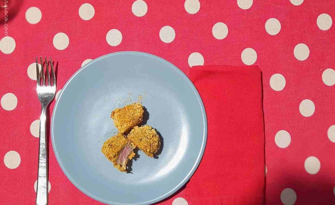 Tonno in crosta di zucchine