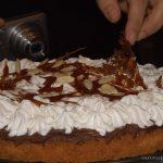 Cream chocolate and salted caramel tart