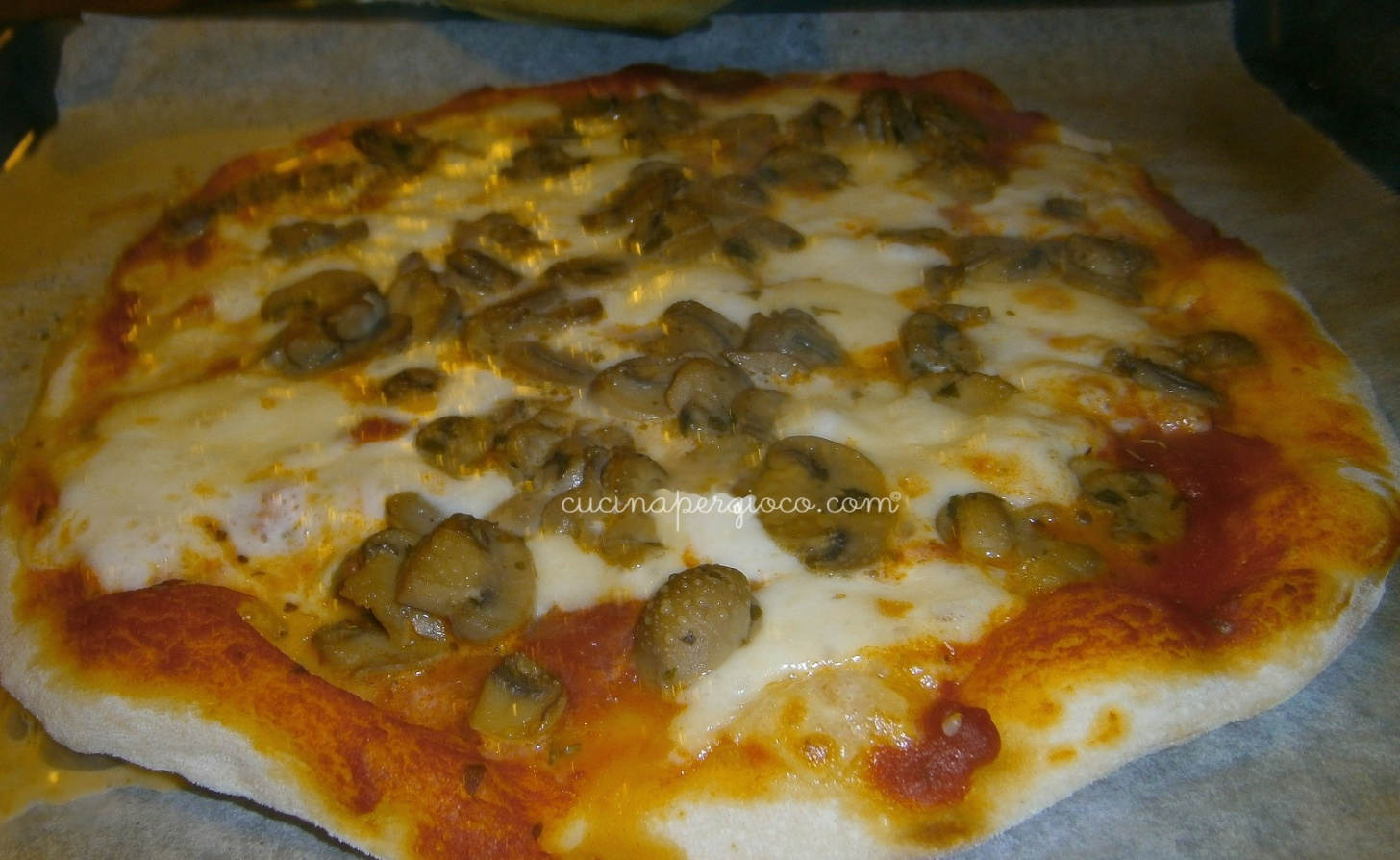 Pizza con le bolle con lievito madre secco