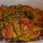 Maialino in Saor su verdure croccanti