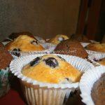 Muffin ai mirtilli e Muffin al cacao