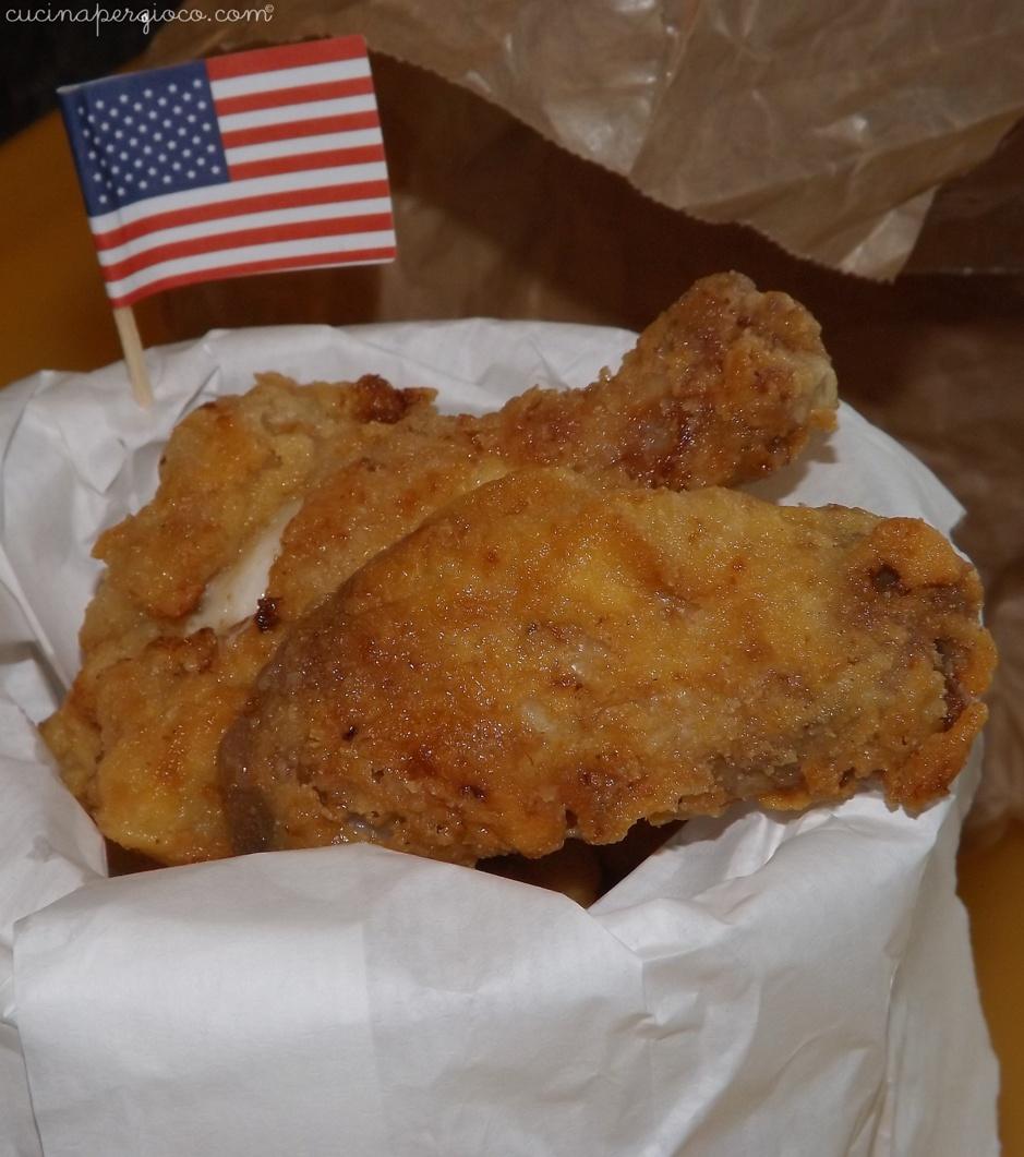 American fried chicken, pollo fritto americano