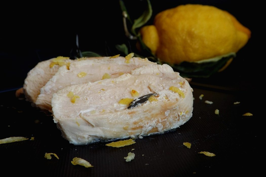 Tagliata di petto di pollo al limone