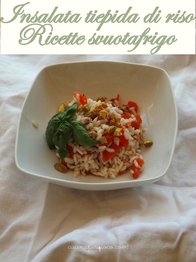 Insalata tiepida di riso, ricetta base