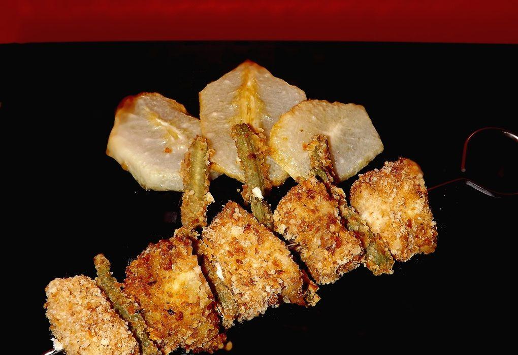 pesce spada e merluzzo croccante con carciofi e zucchine spinose (4)