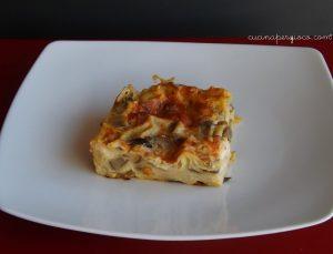 Lasagna con carciofi spinosi sardi dop