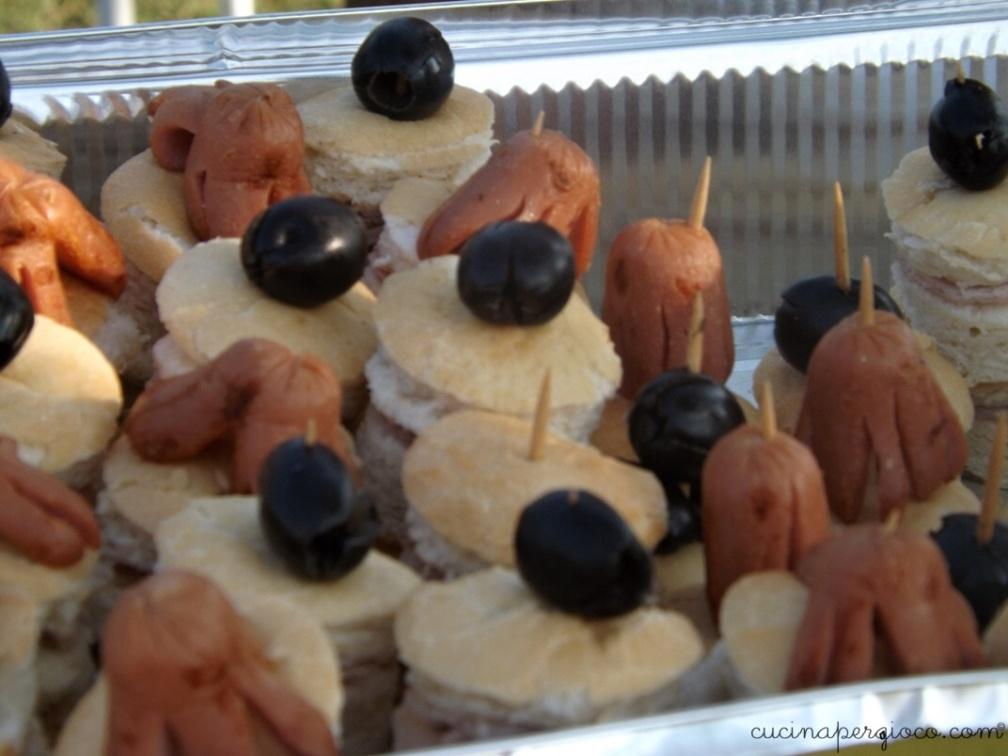 Festa a tema mare: panini scoglio con polipetti