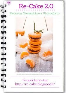Macaron con cioccolato fondente e clementine: Preleva la locandina e gioca con Recake 2.0