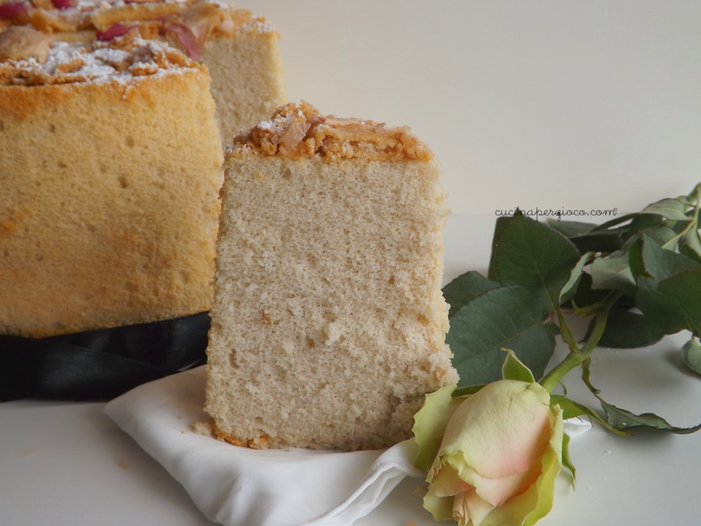 Fluffosa alle rose Chiffon cake alle rose