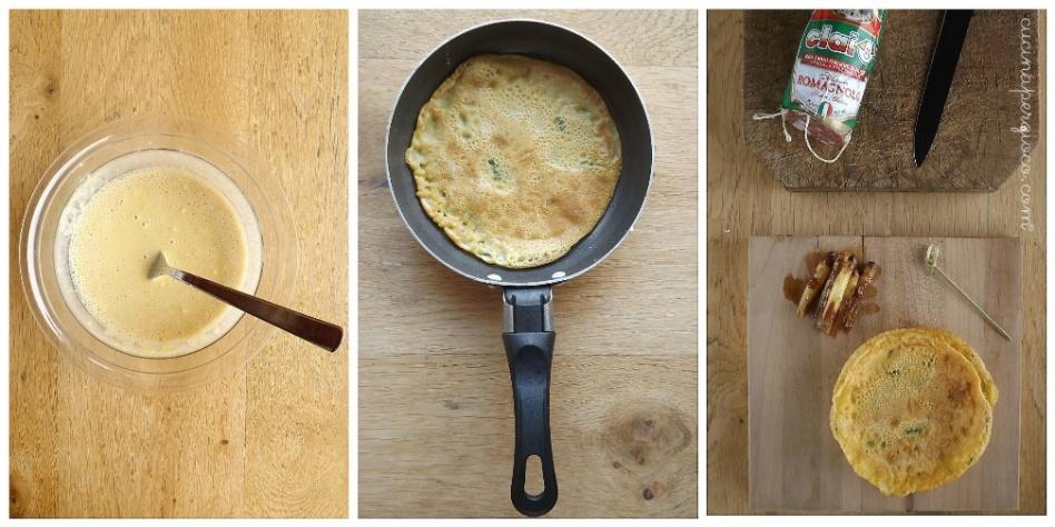 Involtino di farinata con asparago di bassano marinato e Romagnolo Clai