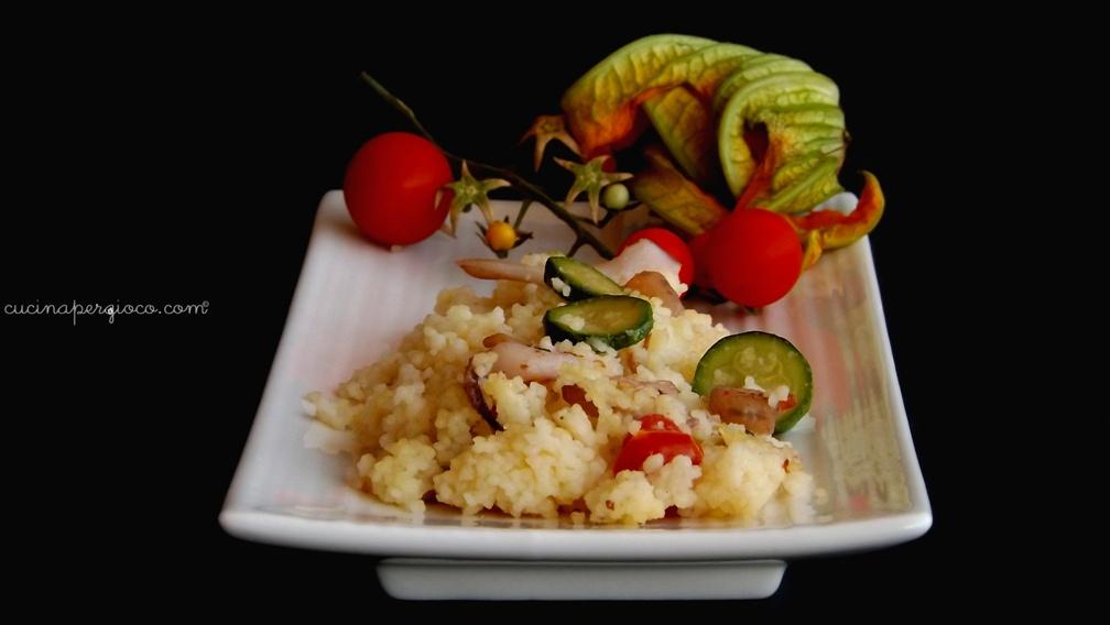 Cous cous con verdure e misto mare