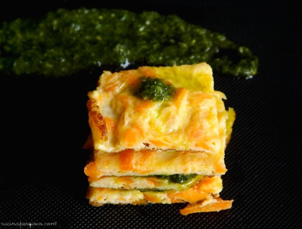 Frittata di carote con pesto di ciuffi (2)