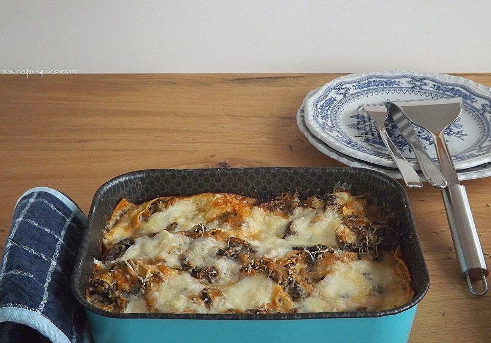 Lasagne con funghi e mascarpone