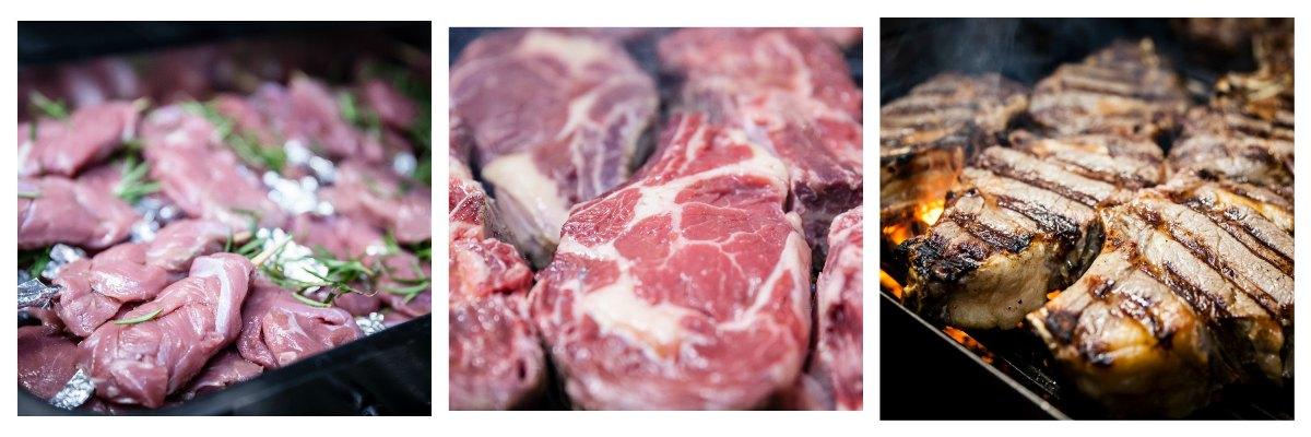 Carne irlandese Board Bia in cottura al Bocon Divino