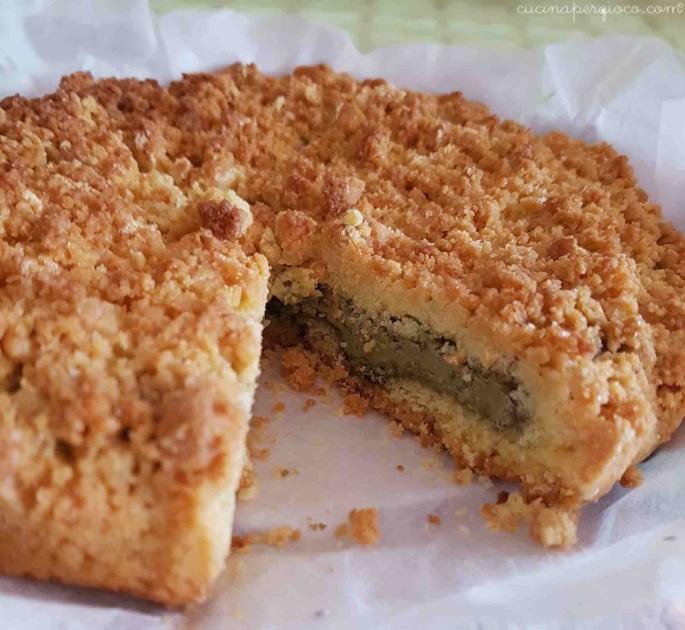 Crostata sbriciolata: Sbriciolata alla crema di pistacchi
