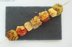 menù di Pasqua e Pasquetta: Spiedini gratinati con feta, melanzana, zucchine, pomodorini
