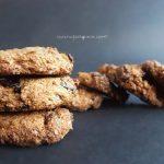 Biscotti di grano saraceno, zucchero di canna e mirtilli rossi