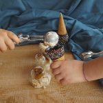 Gelato al mascarpone con fichi e noci senza gelatiera