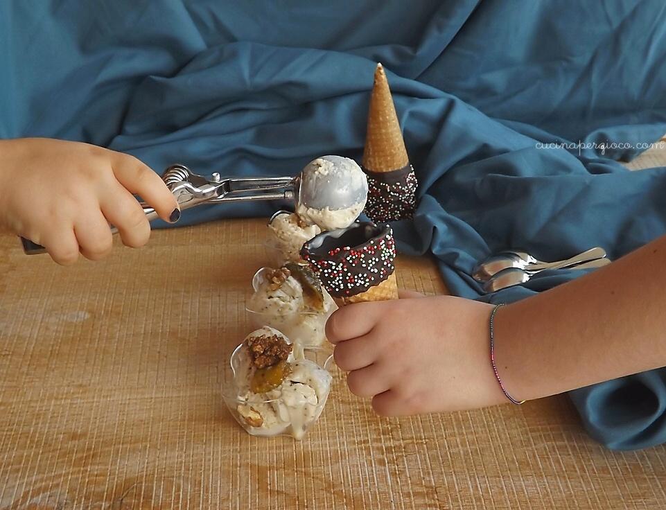 gelato ai fichi e noci: Gelato al mascarpone con fichi e noci senza gelatiera