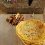 Involtini di farinata con asparagi e salame preparazione: componiamo l'involtino
