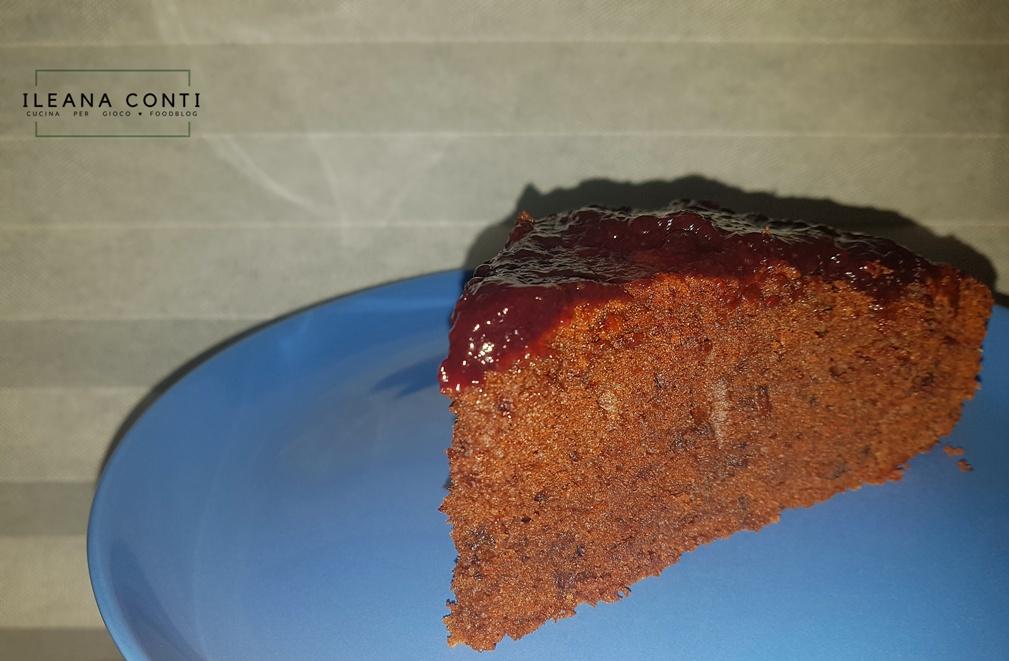 Torta al Cioccolato ricoperta di marmellata