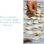 Grissini di pasta sfoglia con mortadella e pistacchi